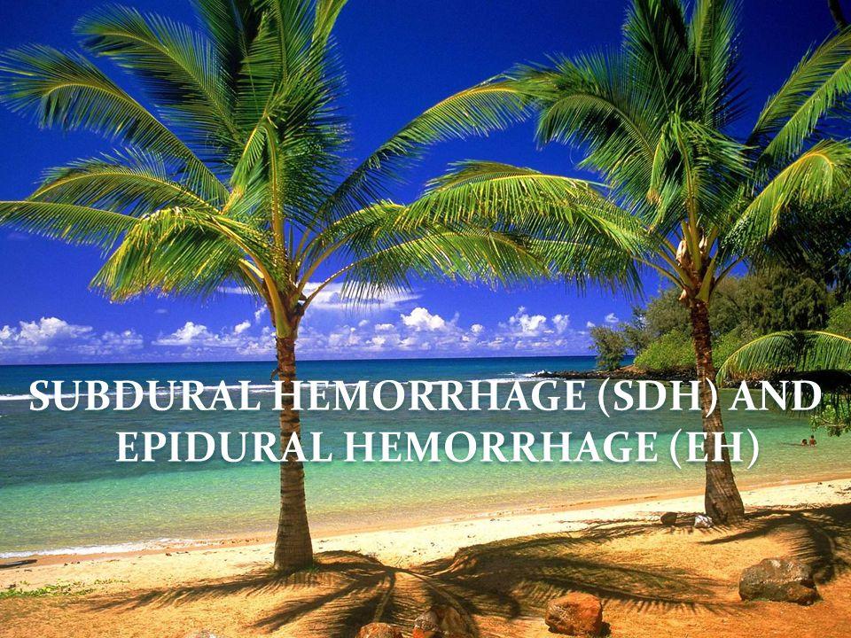 SUBDURAL HEMORRHAGE (SDH) AND EPIDURAL HEMORRHAGE (EH)