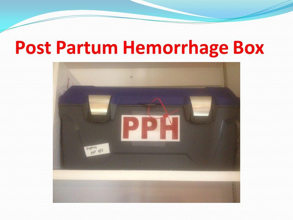 Post Partum Hemorrhage Box