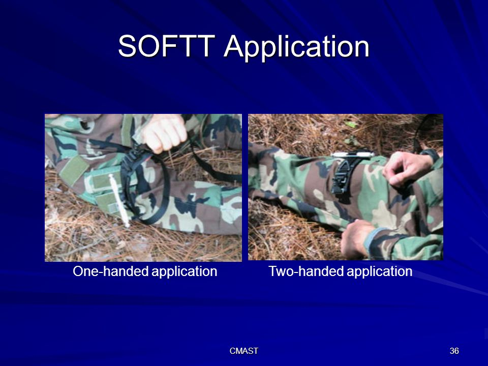 CMAST 36 SOFTT Application One-handed application Two-handed application