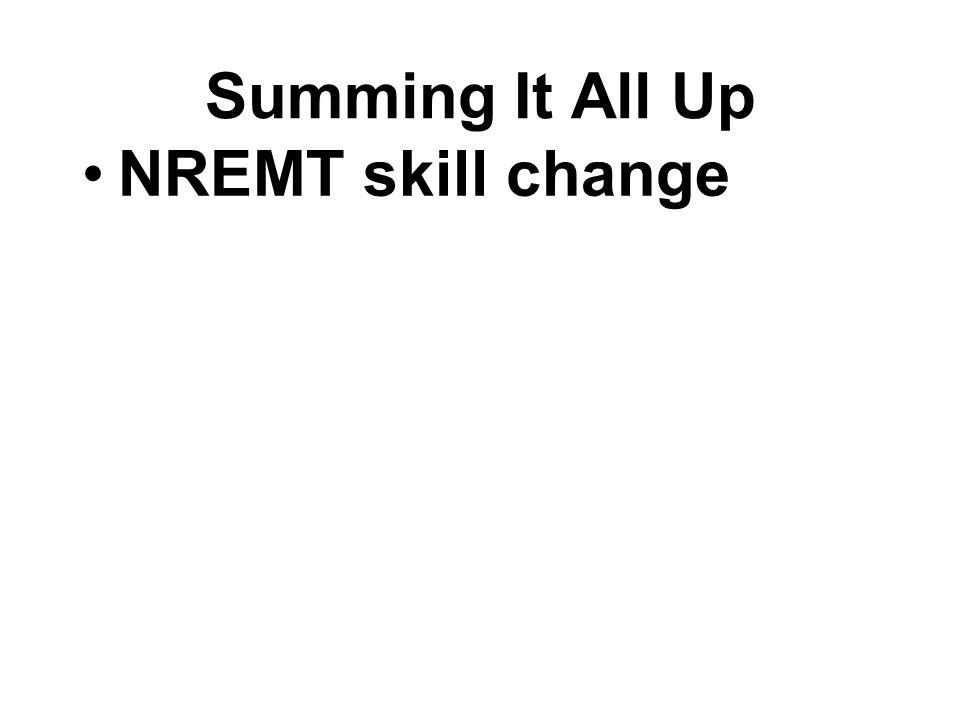 NREMT skill change
