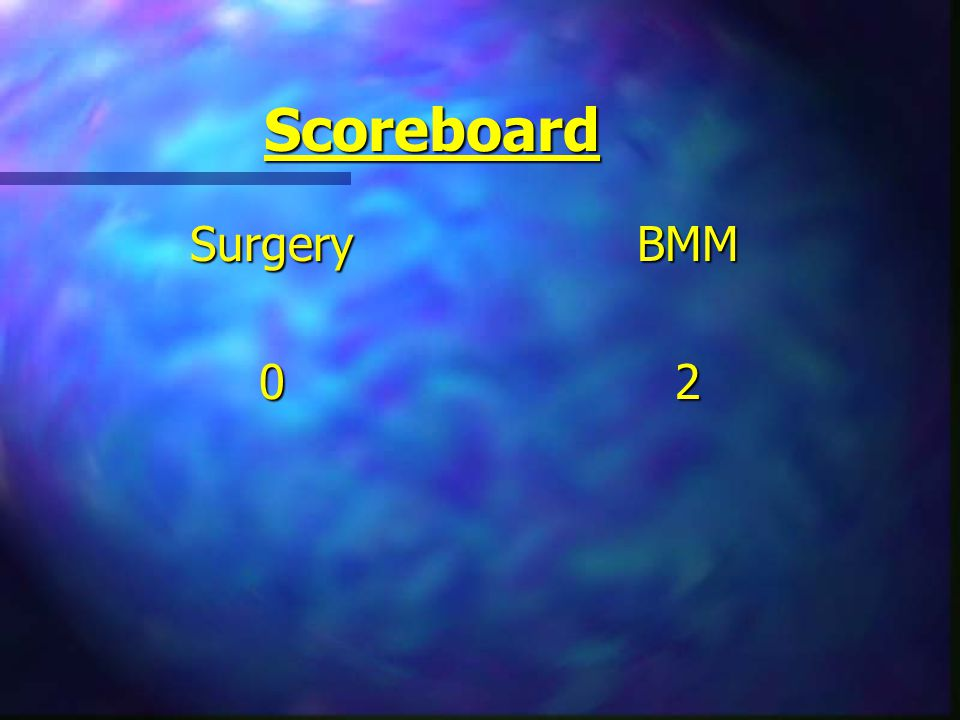 Scoreboard Surgery0 BMM 2