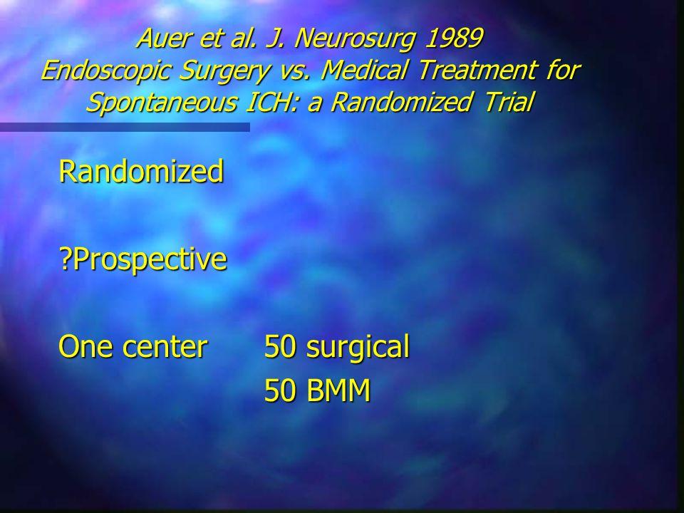 Auer et al.J. Neurosurg 1989 Endoscopic Surgery vs.