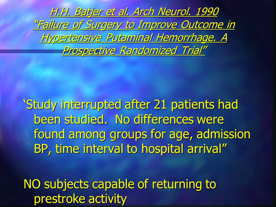 H.H.Batjer et al. Arch Neurol.