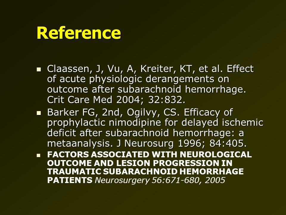 Reference Claassen, J, Vu, A, Kreiter, KT, et al.