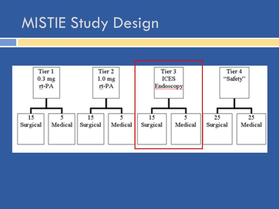 MISTIE Study Design