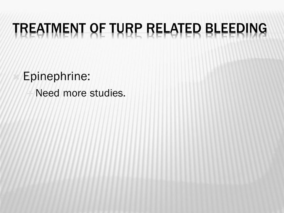  Epinephrine:  Need more studies.