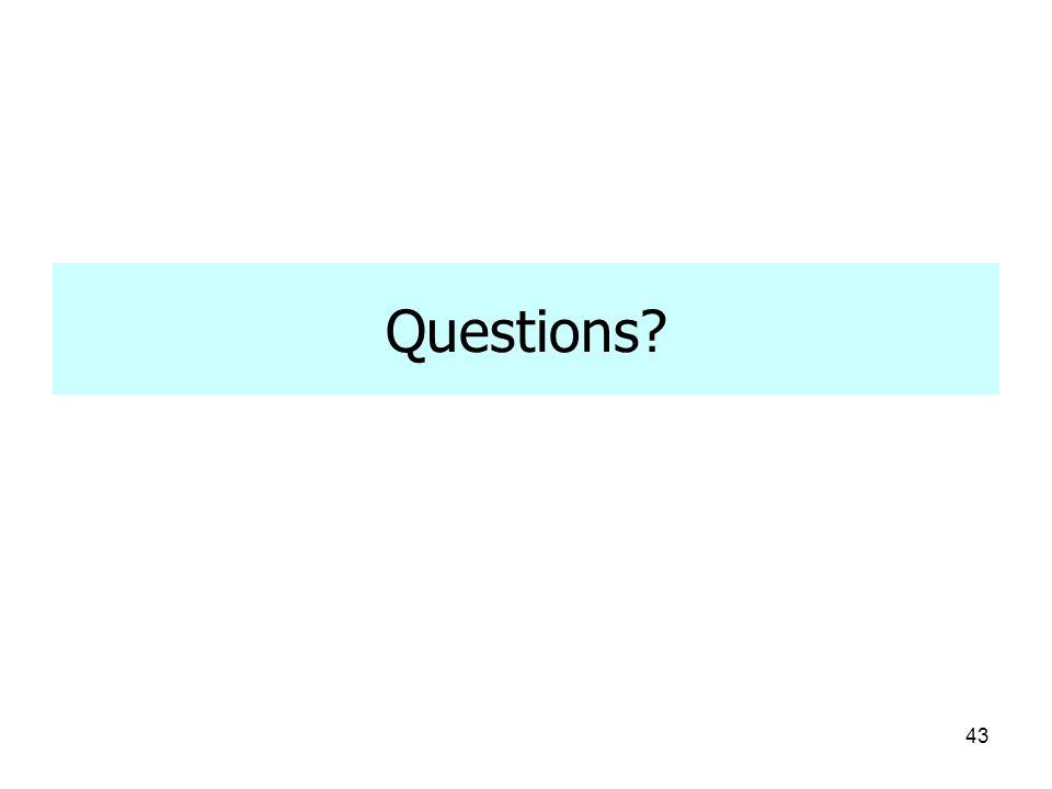 43 Questions?