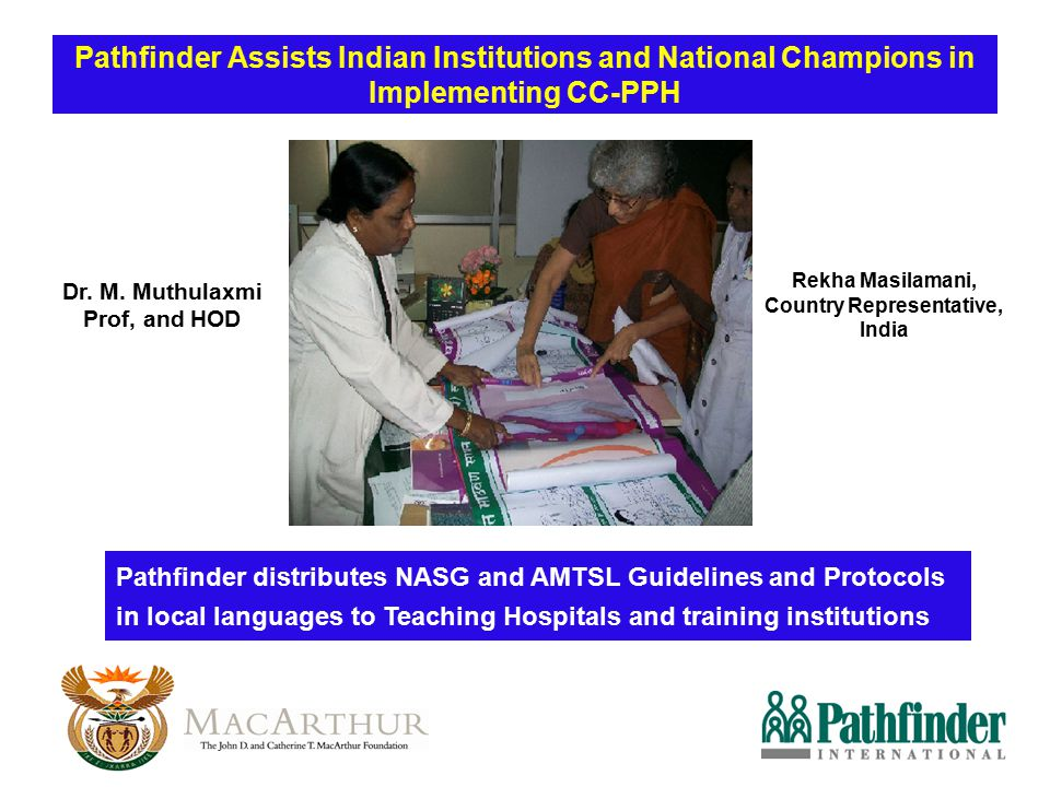 Pathfinder Assists Indian Institutions and National Champions in Implementing CC-PPH Pathfinder distributes NASG and AMTSL Guidelines and Protocols in