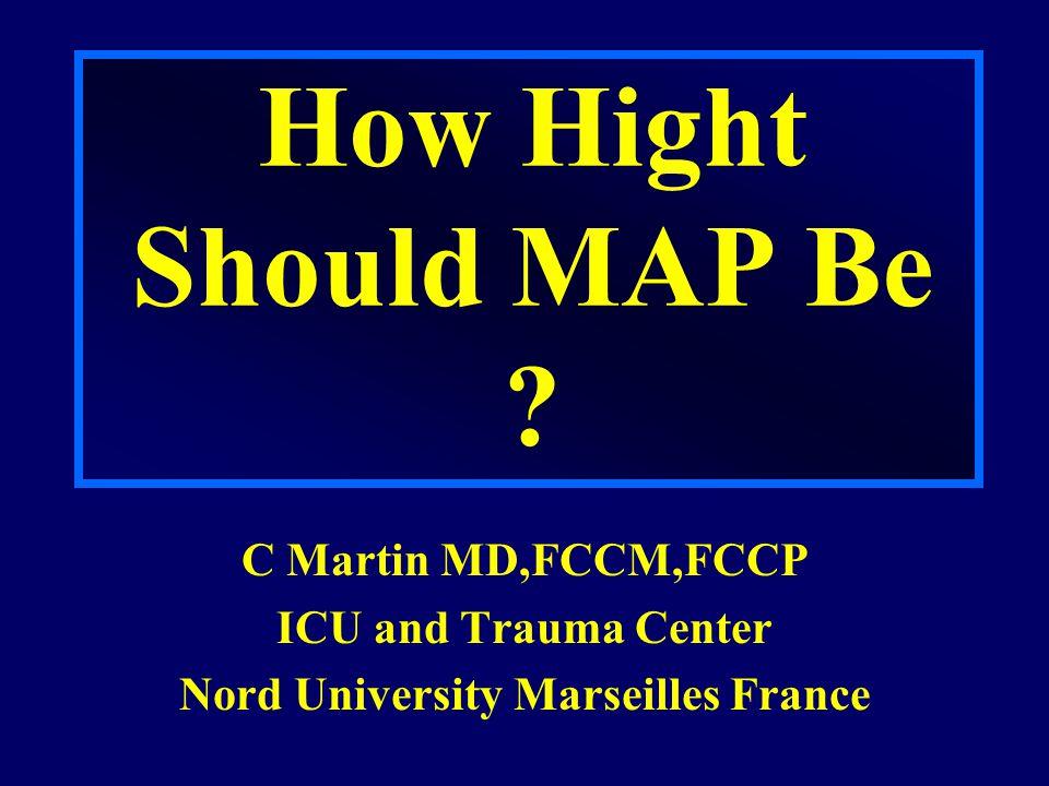 Burris et al J Trauma 1999; 46 : 216-23 Aortotomy (rat) NONE MAP 80 mmHg MAP 40 mmHg MAP 100 mmHg