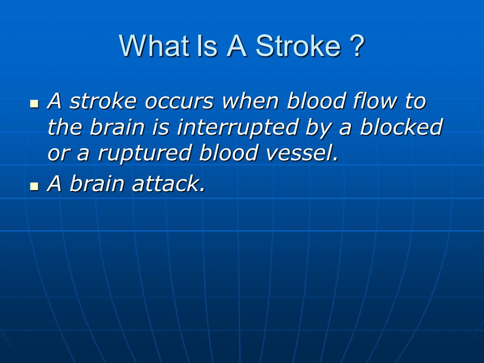 What Is A Stroke .