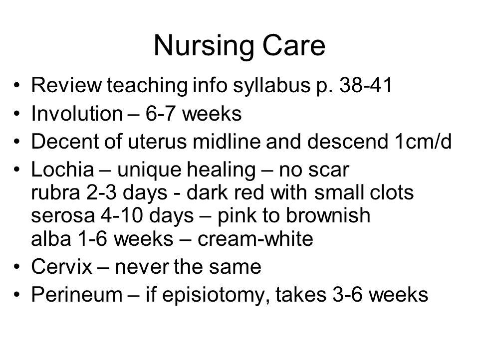 Nursing Care Review teaching info syllabus p.