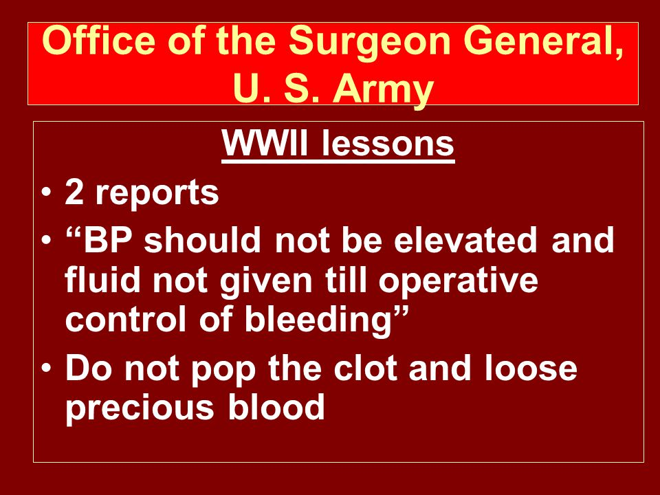 Office of the Surgeon General, U.S.