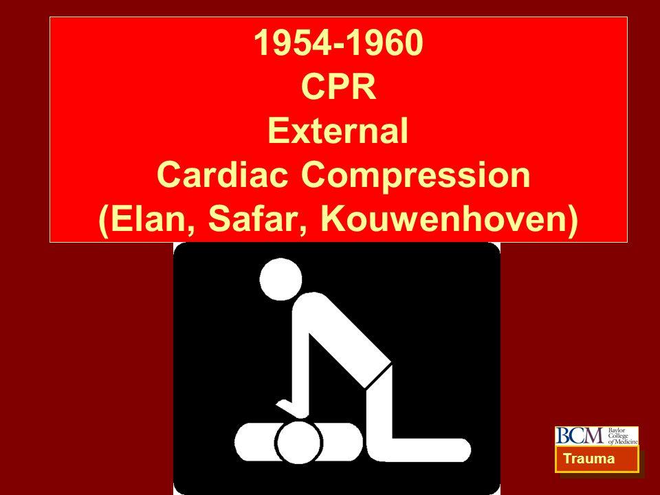 1954-1960 CPR External Cardiac Compression (Elan, Safar, Kouwenhoven) Trauma