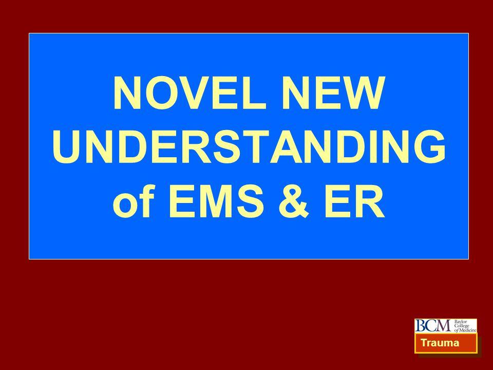 NOVEL NEW UNDERSTANDING of EMS & ER Trauma