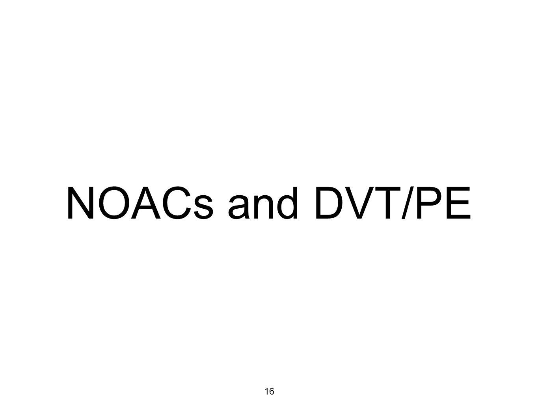 16 NOACs and DVT/PE