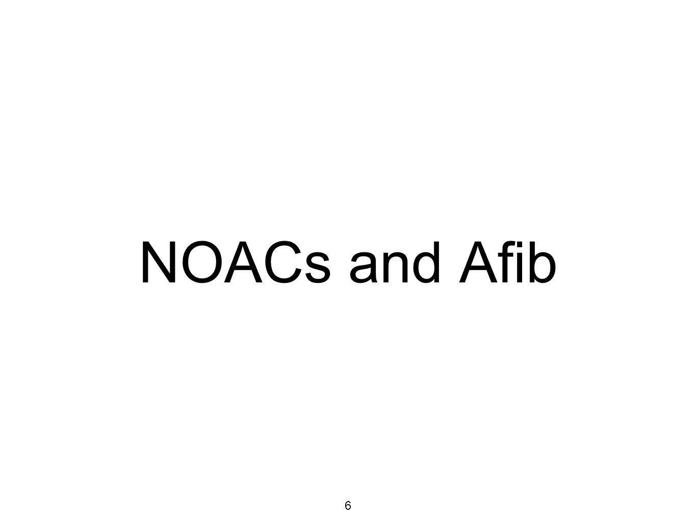 6 NOACs and Afib