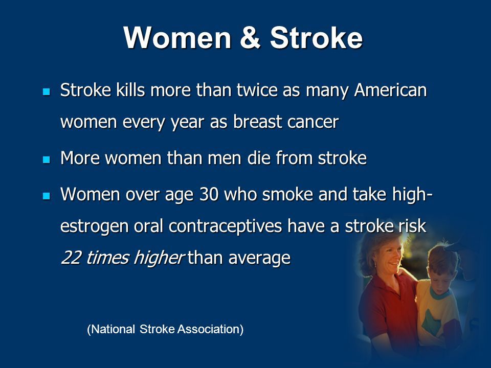 Women & Stroke Stroke kills more than twice as many American women every year as breast cancer Stroke kills more than twice as many American women eve