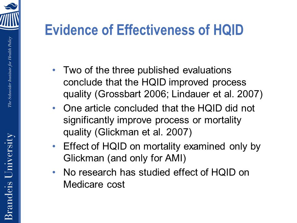 Why might HQID impact Medicare cost.