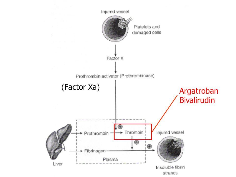 Argatroban Bivalirudin (Factor Xa)