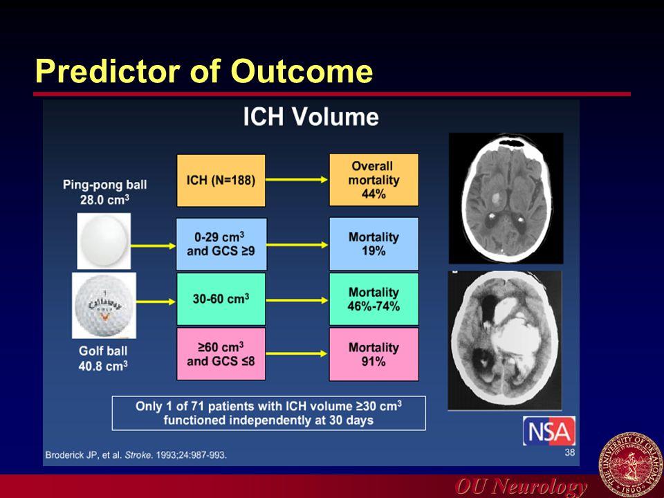 OU Neurology Predictor of Outcome