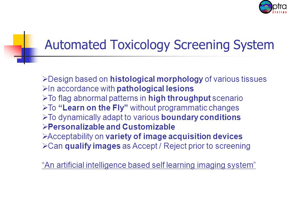 OptraAssays ™ (Image analysis libraries for histopathology in toxicological analysis)  Angiogenesis.dll  Hemorrhage.dll  Pan_Morphometry.dll  Cellularity assessment.dll  Necrosis.dll  Infarction.dll  Fibrosis.dll  Mitoses.dll  Micrometastasis.dll  Adenomyosis.dll