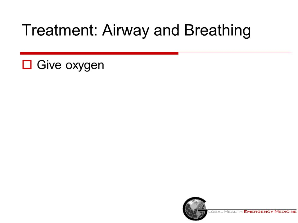 "Treatment  ABC's ""5 to 15"" Airway Breathing Circulation Put the patient on a monitor if available  Treat underlying cause"