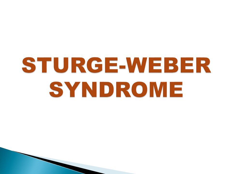  Sturge-Weber syndrome (encephalotrigeminal angiomatosis) is a congenital disorder characterized by localized atrophy and calcification of the cerebral cortex with an ipsilateral port wine-colored facial nevus in the area of the trigeminal nerve distribution.