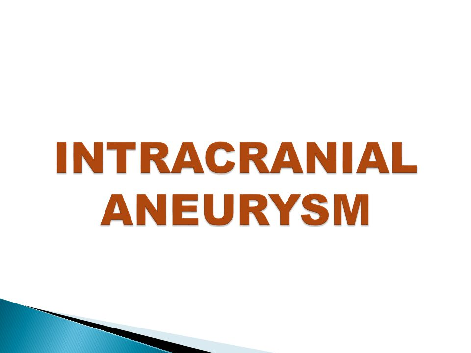  An intracranial aneurysm is a localized dilation of a cerebral artery.