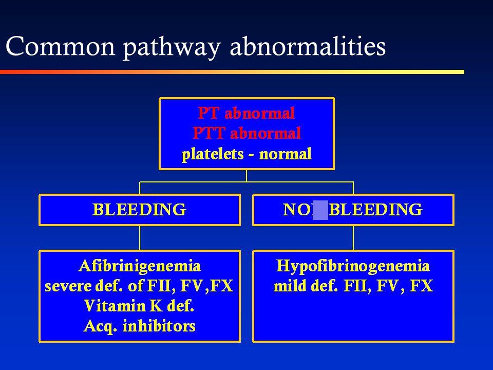 1. Withhold oral anticoagulant treatment 2. Administer i.v.