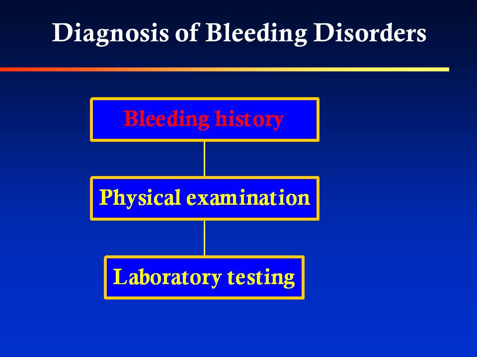 Diagnosis of Bleeding Disorders