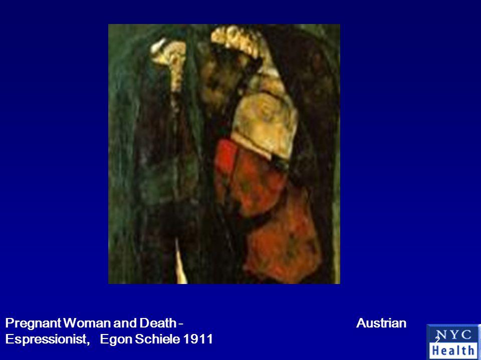 2 Pregnant Woman and Death - Austrian Espressionist, Egon Schiele 1911