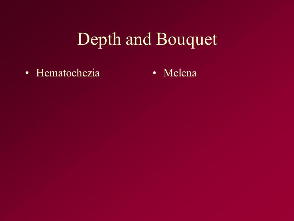 Depth and Bouquet HematocheziaMelena