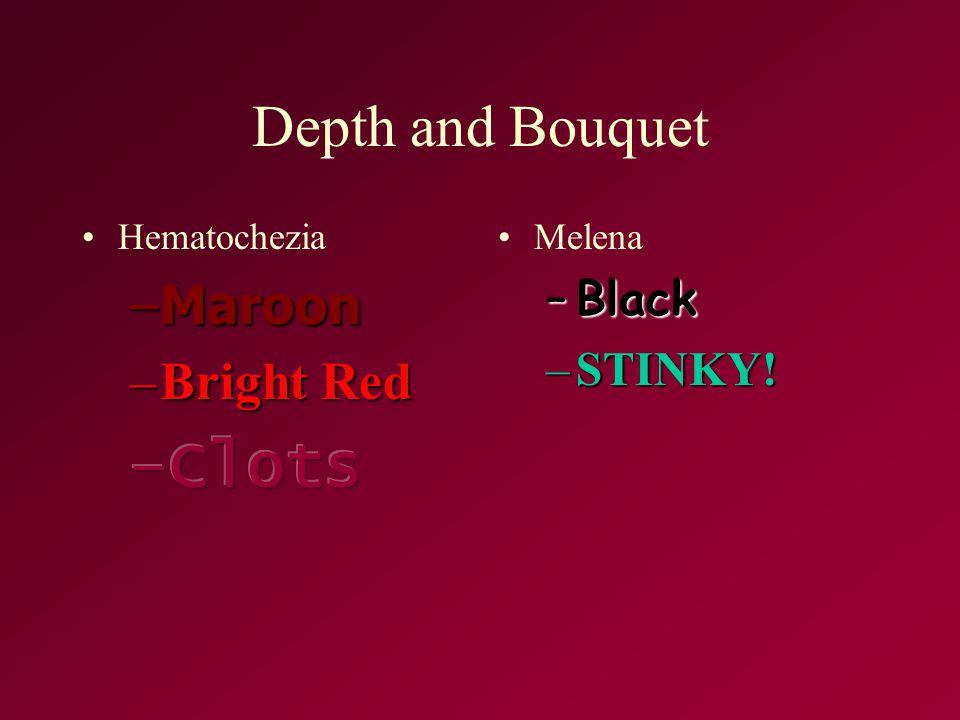 Depth and Bouquet Melena –Black –STINKY!