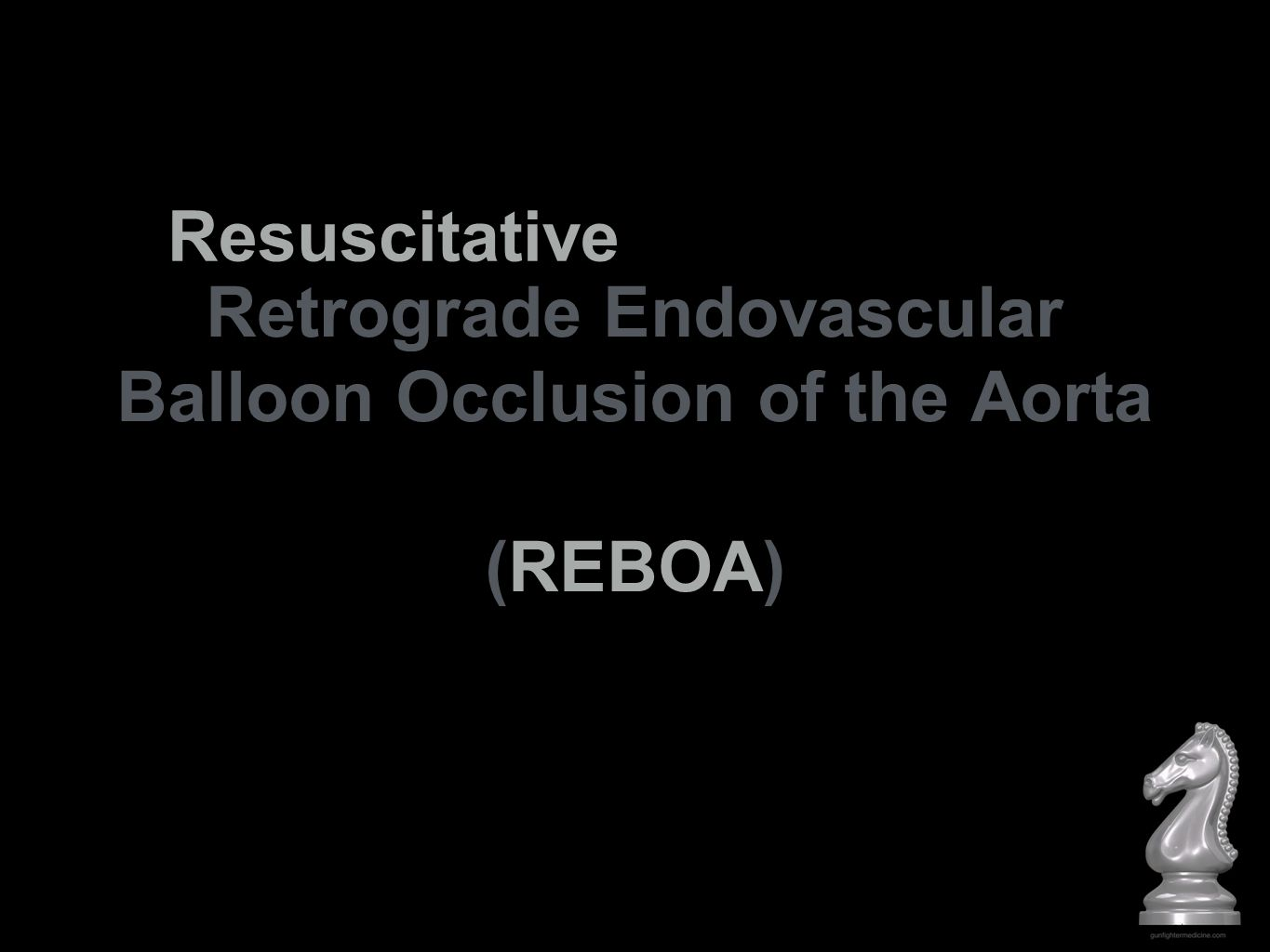 REBOA is an adjunct in the setting of hemorrhagic shock and an alternative to thoracotomy with aortic compression