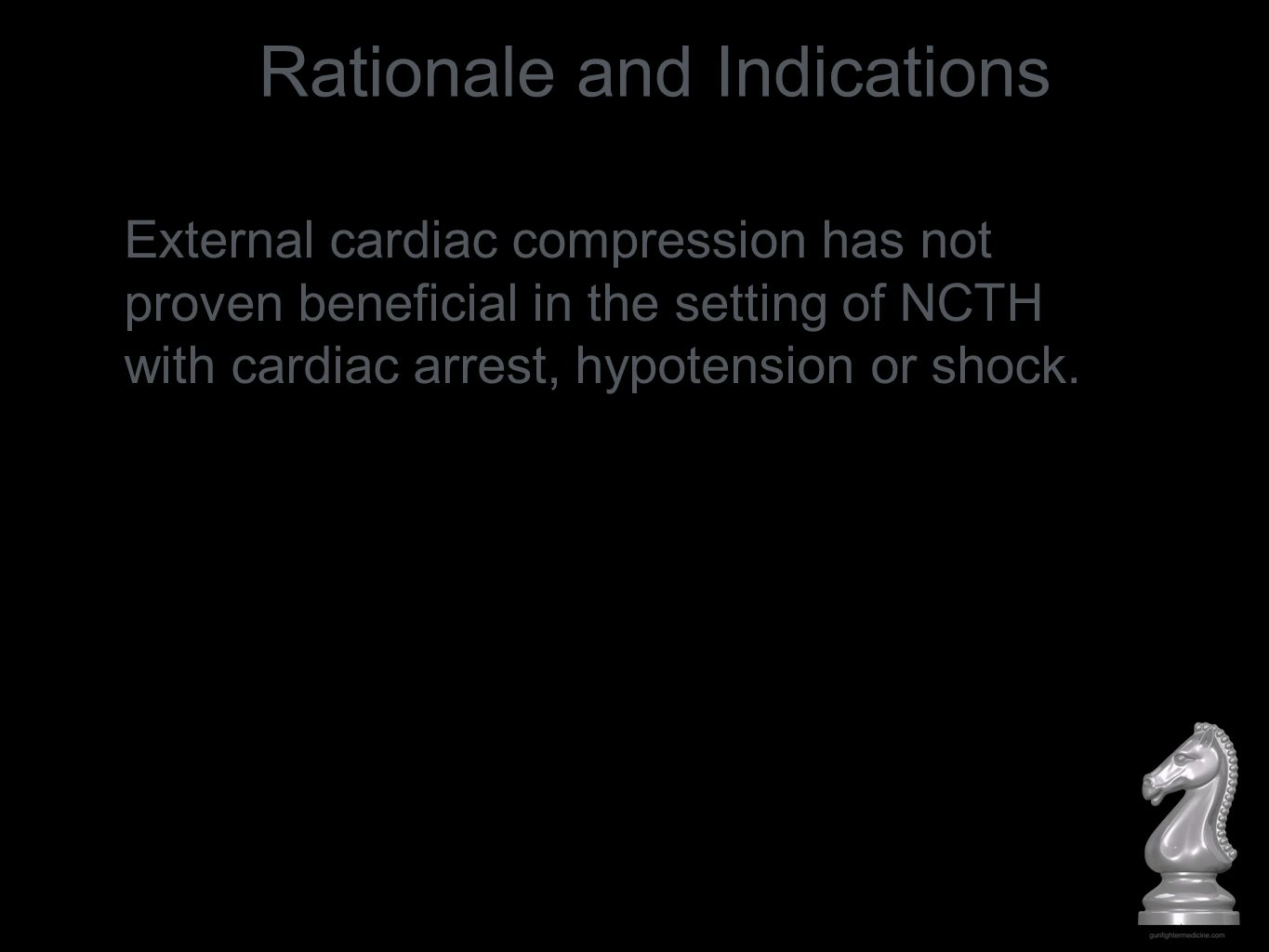 Resuscitative aortic occlusion (RAO) for NCTH: mitigates hemorrhage increases afterload increases central aortic pressure buys time until surgical / IR hemostasis can be achieved Rationale and Indications