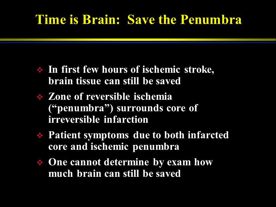 Penumbra Core Time Is Brain: Save The Penumbra Clot in Artery