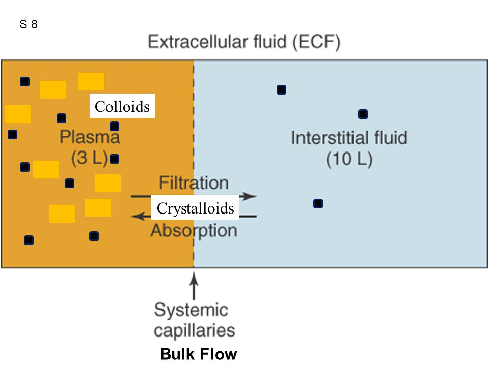Figure 12.41 Crystalloids Colloids Bulk Flow S 8