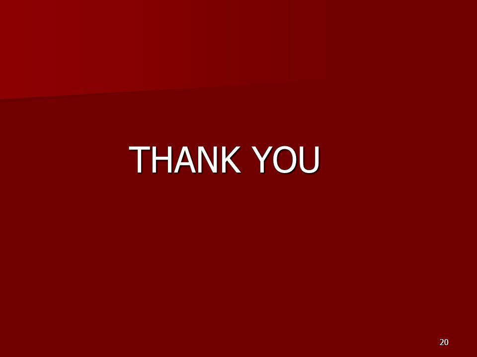 20 THANK YOU THANK YOU