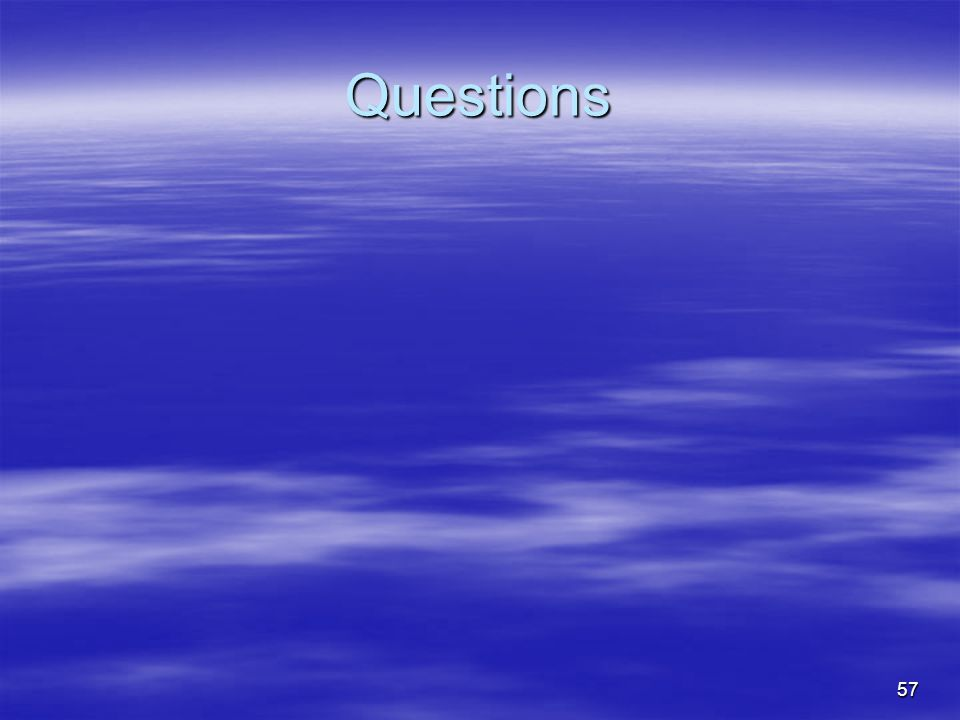 57 Questions