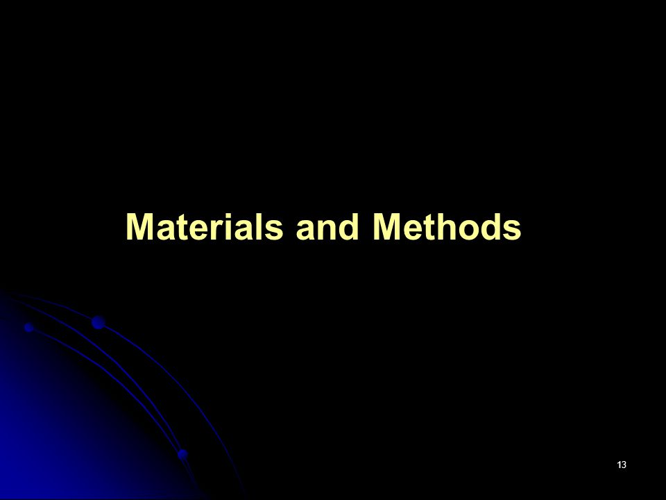 13 Materials and Methods