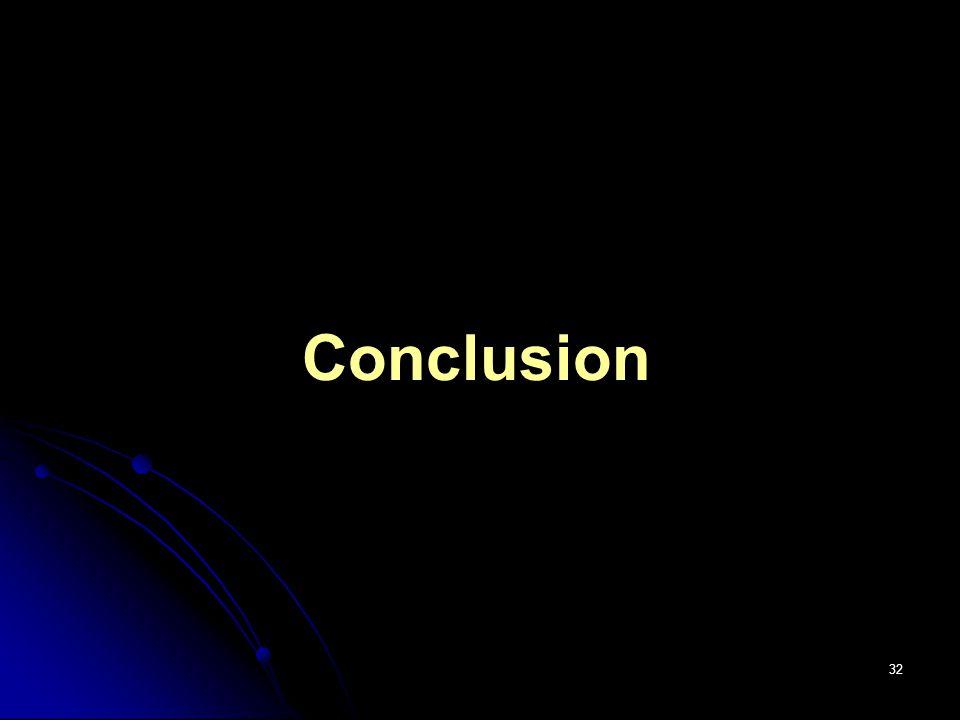 32 Conclusion