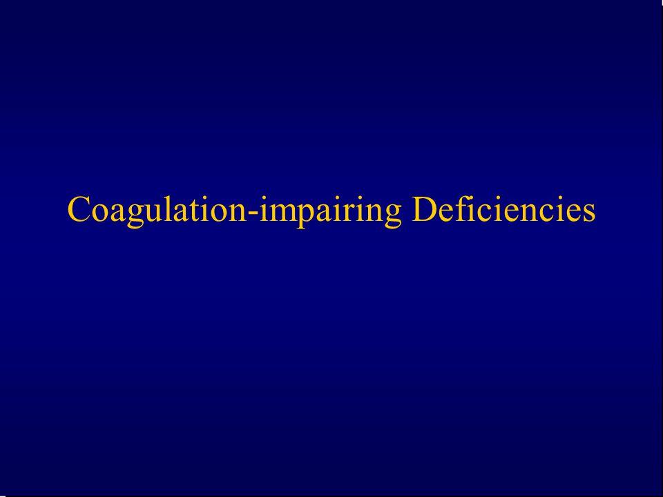 Coagulation-impairing Deficiencies