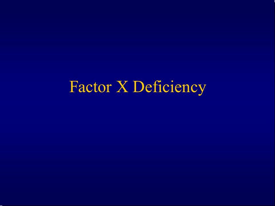 Factor X Deficiency