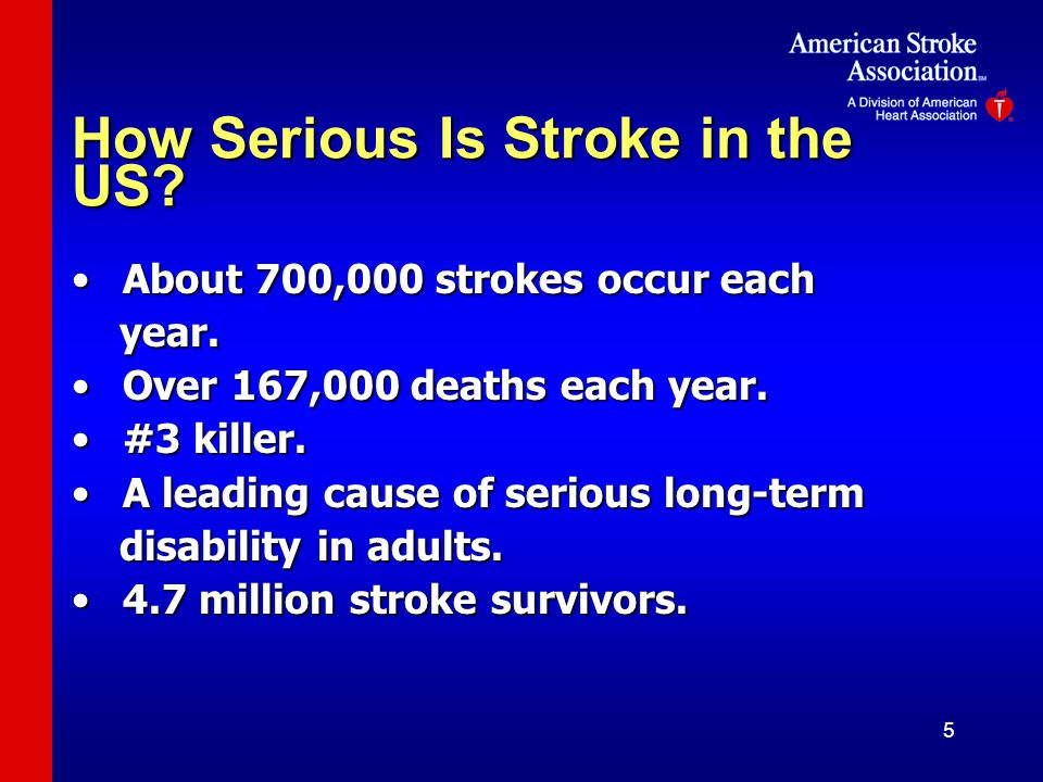 5 How Serious Is Stroke in the US.