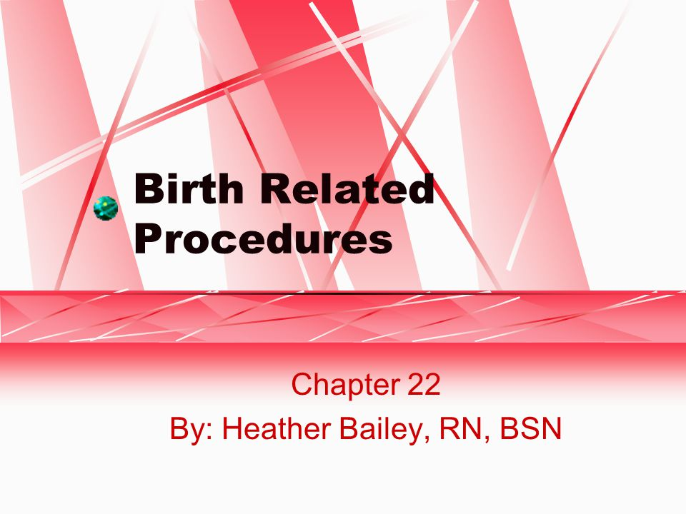 Birth Related Procedures Chapter 22 By: Heather Bailey, RN, BSN