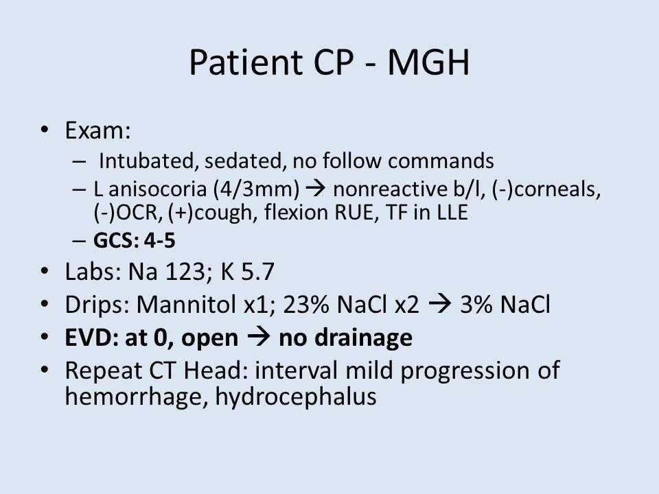Patient CP PMx: L Humoral fracture 1.5wk ago Meds: ASA 81mg qD; Duloxetine 60mg qD ROS: L arm pain; no complaints prior SHx: retired teacher, nonsmoker, active at b/l FHx: no sudden bleeds
