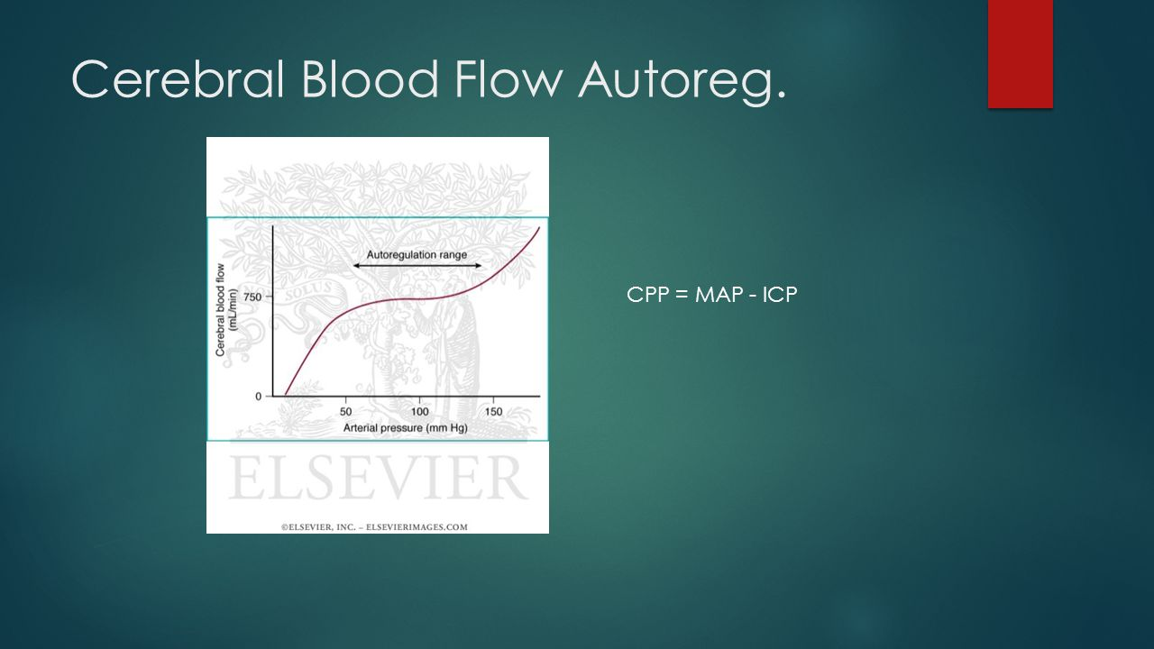 Cerebral Blood Flow Autoreg. CPP = MAP - ICP