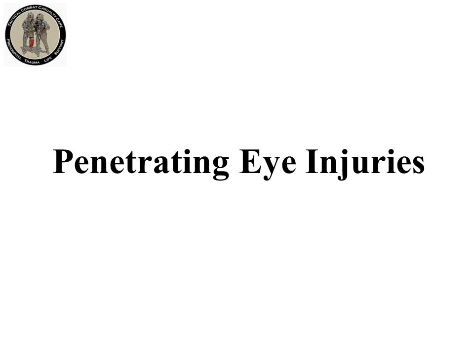 Penetrating Eye Injuries