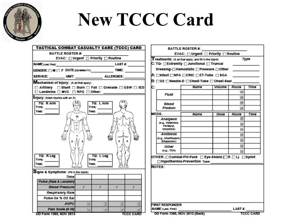 New TCCC Card