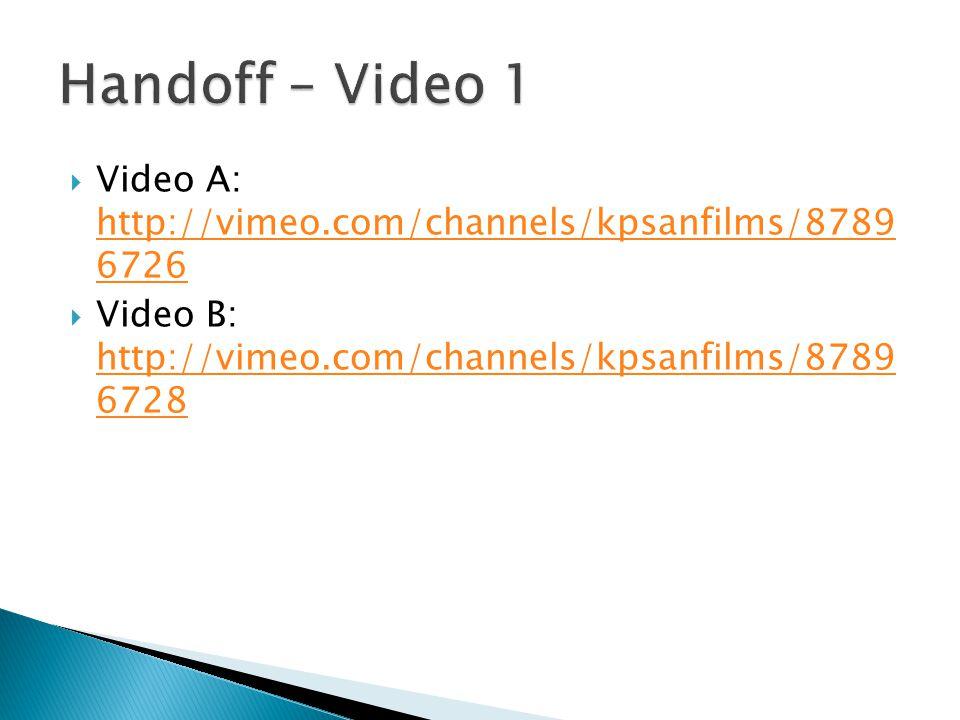  Video A: http://vimeo.com/channels/kpsanfilms/8789 6726 http://vimeo.com/channels/kpsanfilms/8789 6726  Video B: http://vimeo.com/channels/kpsanfil